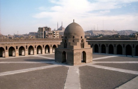 Ibn-Tulun-Mosque-is-the-largest-mosque-in-Cairo-in-terms-of-land-area
