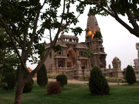 Baron Empain Palace in the evening